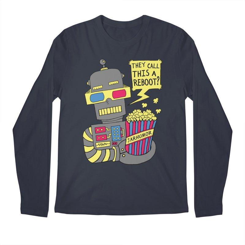 Robot Movie Reboot Men's Regular Longsleeve T-Shirt by JARHUMOR