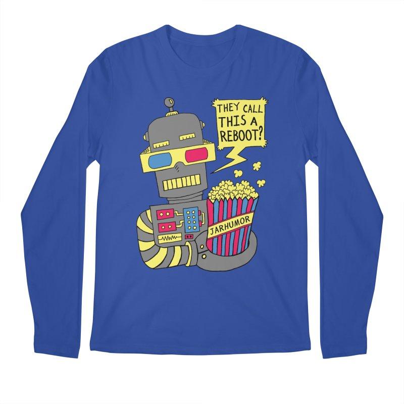 Robot Movie Reboot Men's Longsleeve T-Shirt by JARHUMOR