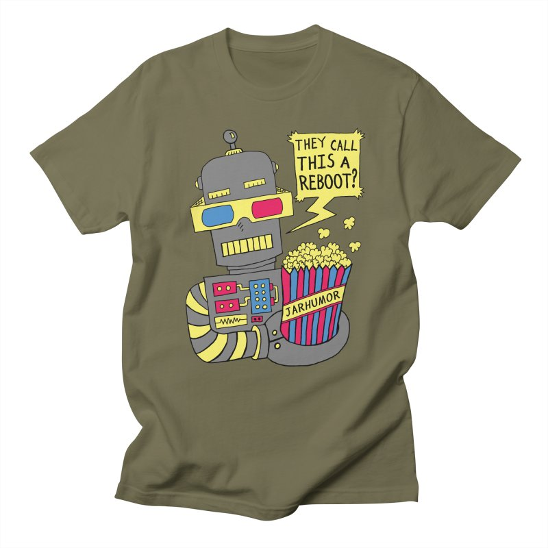 Robot Movie Reboot Women's Regular Unisex T-Shirt by JARHUMOR