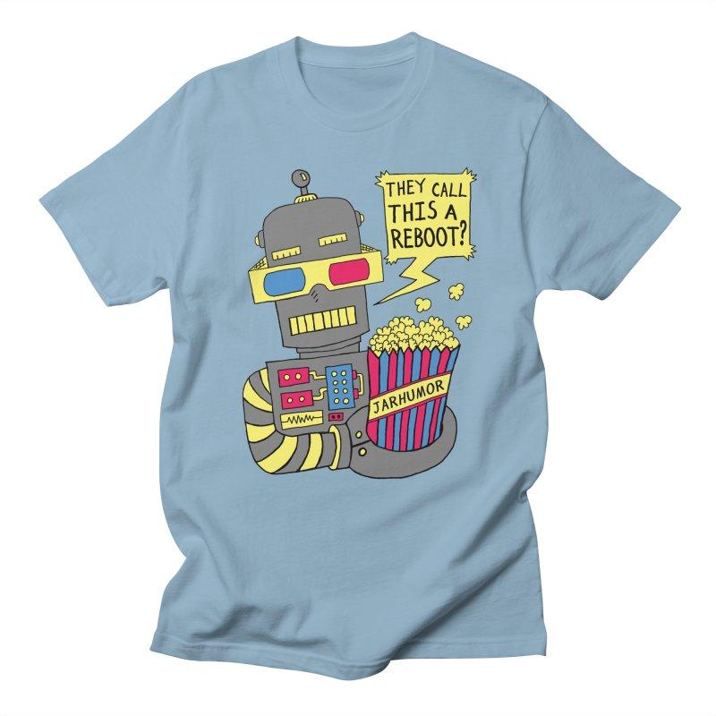 Robot Movie Reboot Men's T-shirt by James A. Roberson (JARHUMOR)