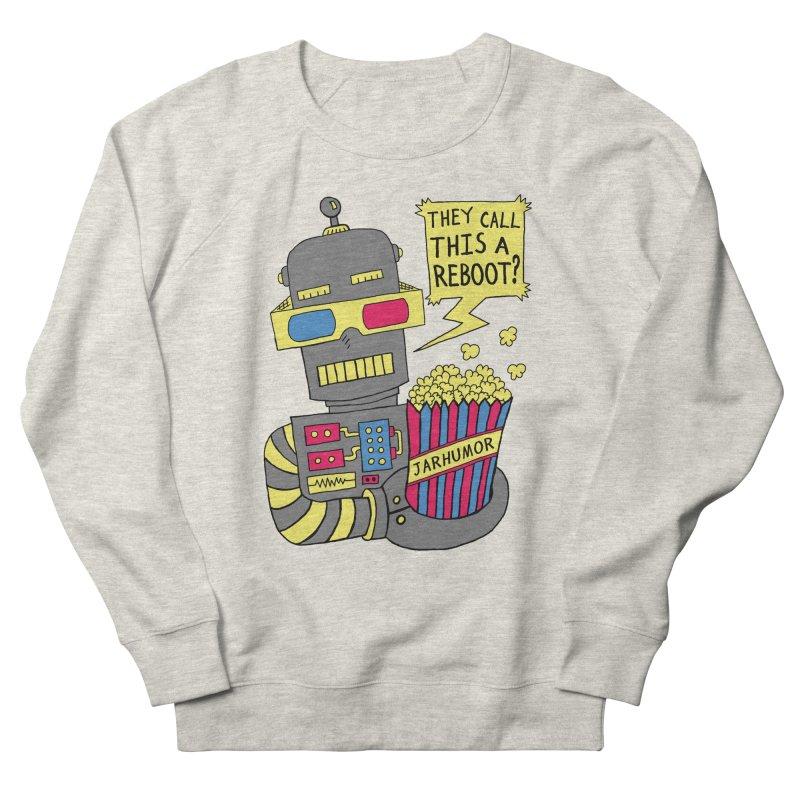 Robot Movie Reboot Men's French Terry Sweatshirt by JARHUMOR