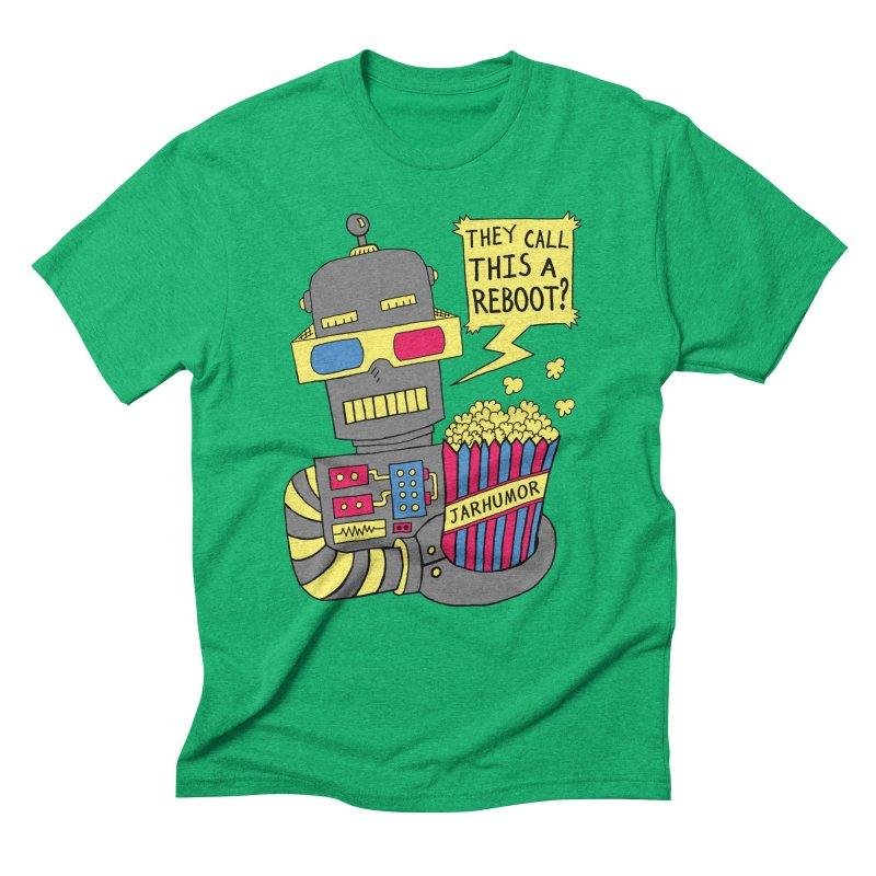 Robot Movie Reboot Men's Triblend T-Shirt by JARHUMOR