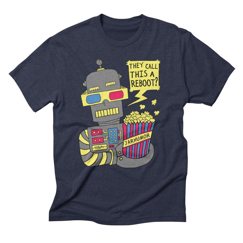 Robot Movie Reboot Men's Triblend T-Shirt by JARHUMOR