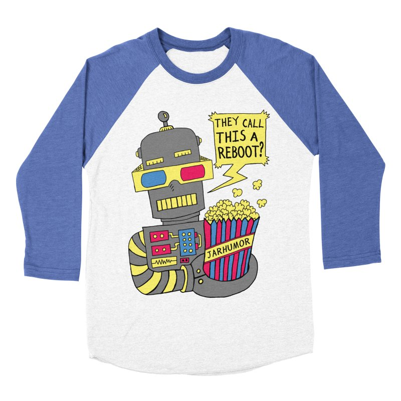 Robot Movie Reboot Women's Baseball Triblend Longsleeve T-Shirt by JARHUMOR