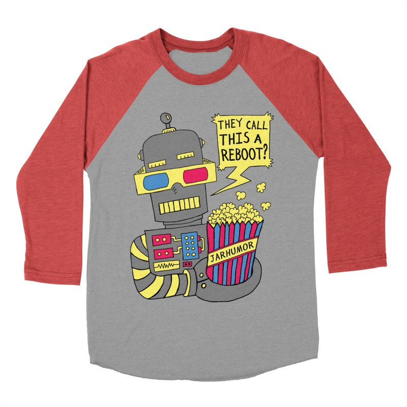 Robot Movie Reboot Women's Baseball Triblend T-Shirt by James A. Roberson (JARHUMOR)