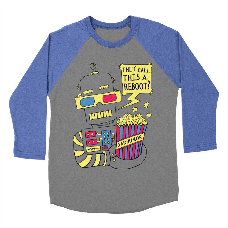 Robot Movie Reboot Men's Baseball Triblend T-Shirt by JARHUMOR