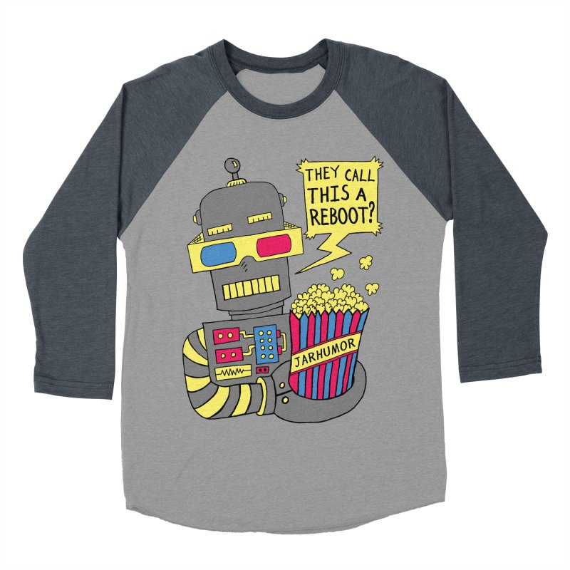 Robot Movie Reboot Men's Baseball Triblend Longsleeve T-Shirt by JARHUMOR