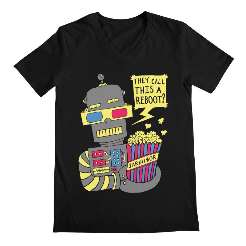 Robot Movie Reboot Men's Regular V-Neck by JARHUMOR