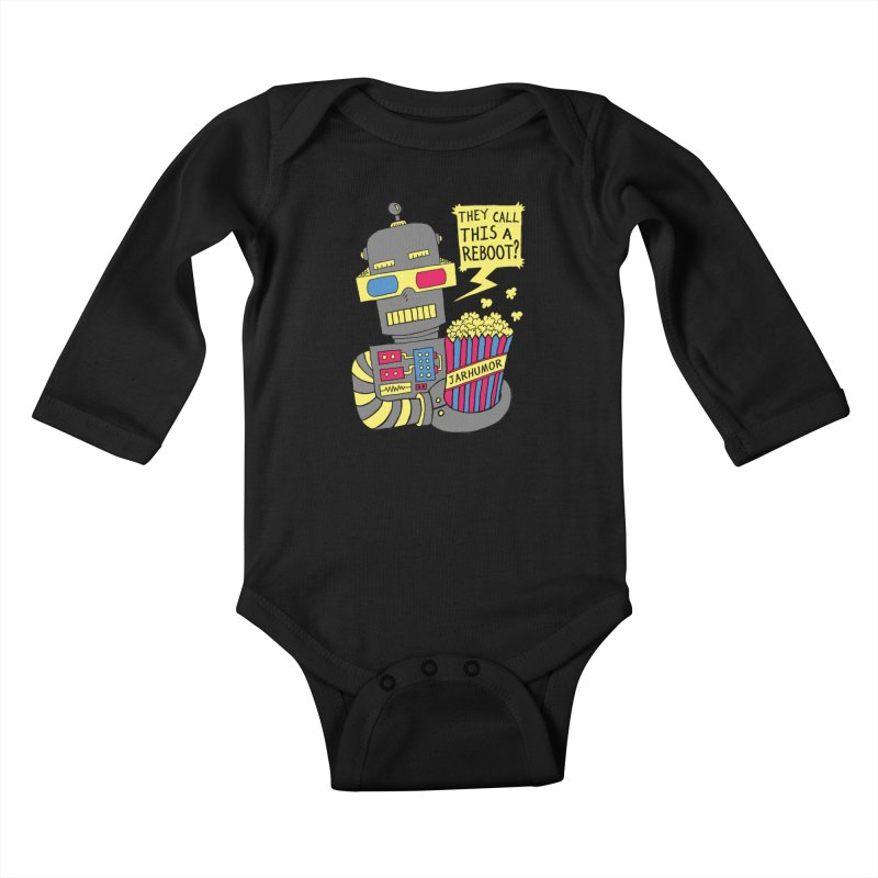Robot Movie Reboot Kids Baby Longsleeve Bodysuit by James A. Roberson (JARHUMOR)