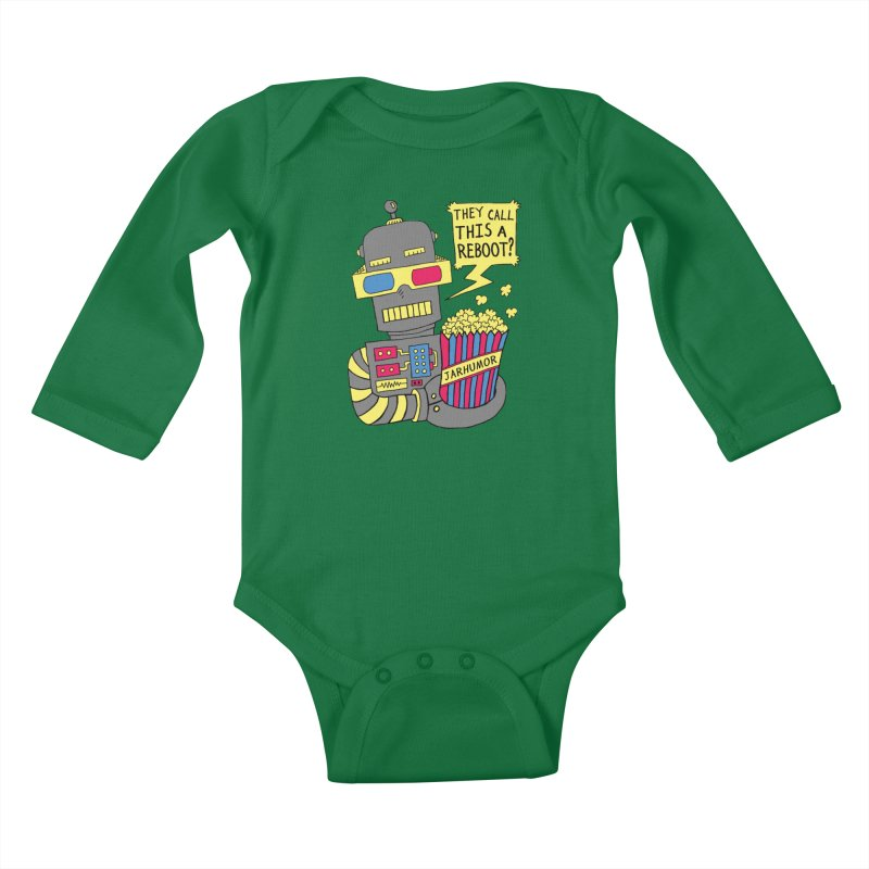 Robot Movie Reboot Kids Baby Longsleeve Bodysuit by JARHUMOR