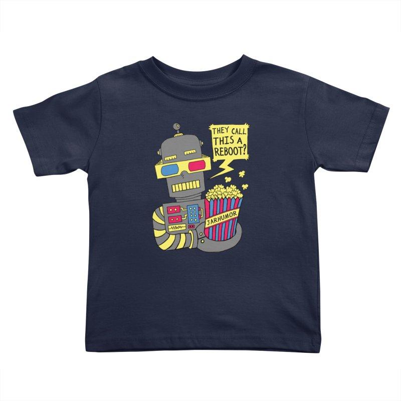 Robot Movie Reboot Kids Toddler T-Shirt by JARHUMOR