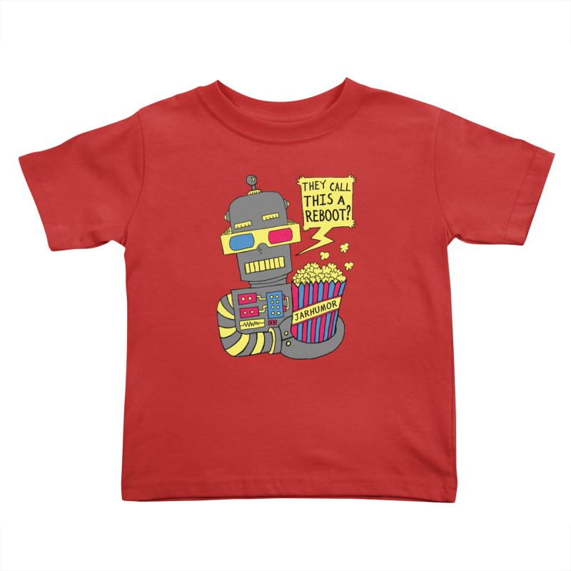 Robot Movie Reboot Kids Toddler T-Shirt by JARHUMOR