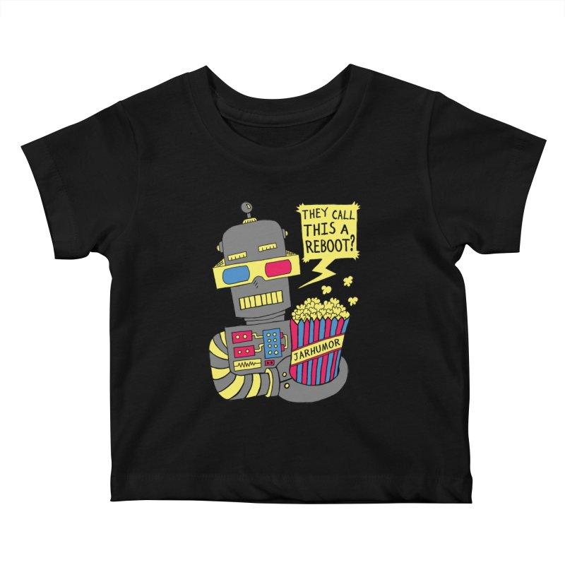 Robot Movie Reboot Kids Baby T-Shirt by JARHUMOR