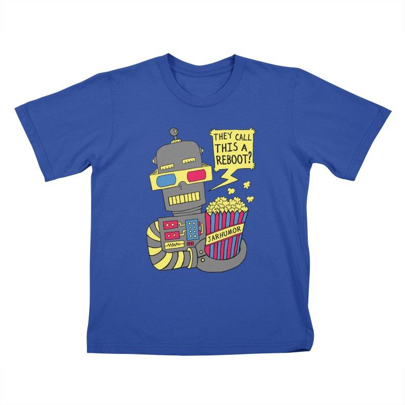 Robot Movie Reboot Kids T-shirt by James A. Roberson (JARHUMOR)