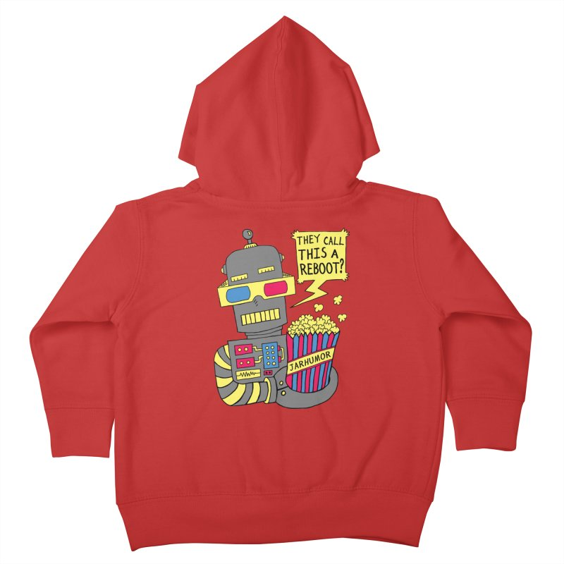 Robot Movie Reboot Kids Toddler Zip-Up Hoody by JARHUMOR