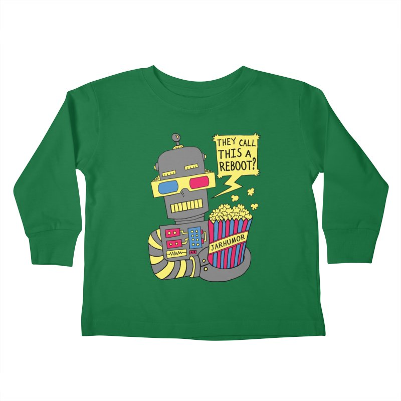 Robot Movie Reboot Kids Toddler Longsleeve T-Shirt by JARHUMOR
