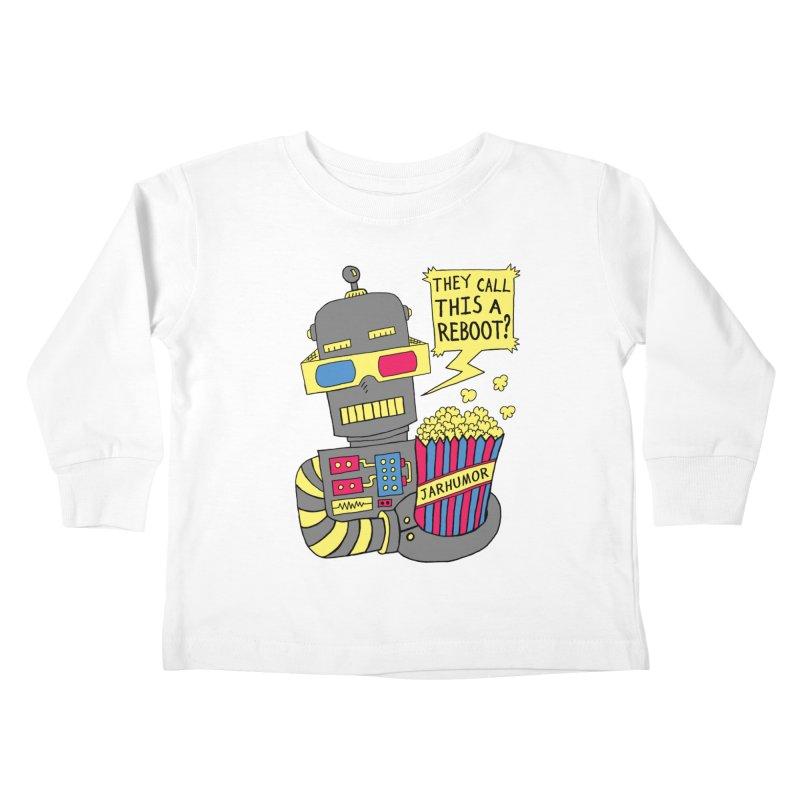Robot Movie Reboot Kids Toddler Longsleeve T-Shirt by JARHUMOR
