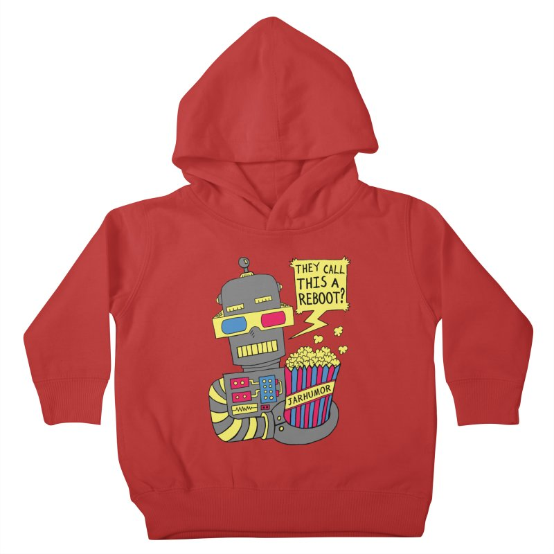 Robot Movie Reboot Kids Toddler Pullover Hoody by JARHUMOR