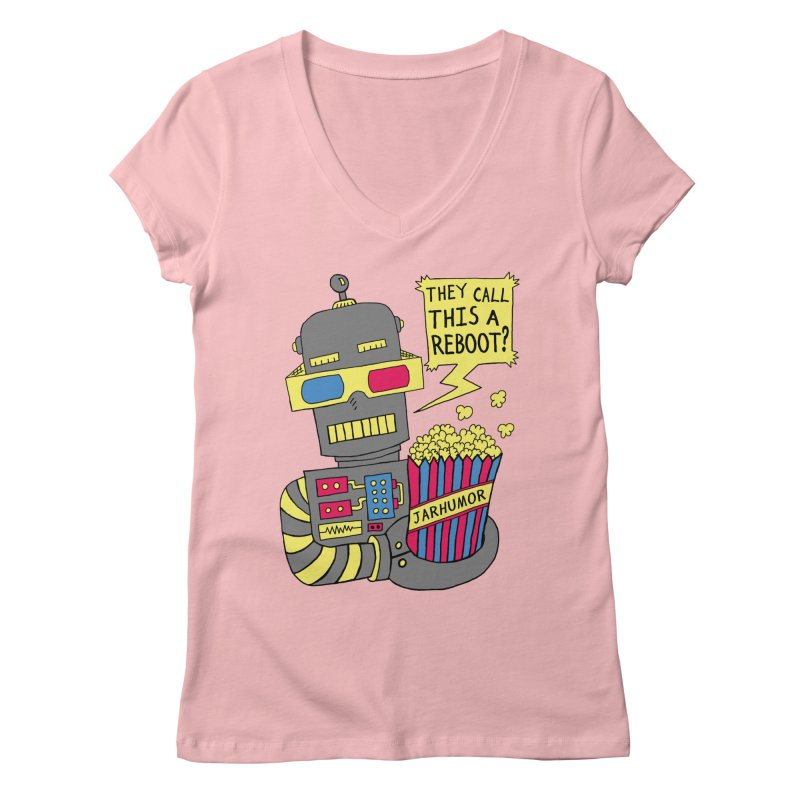 Robot Movie Reboot Women's Regular V-Neck by JARHUMOR