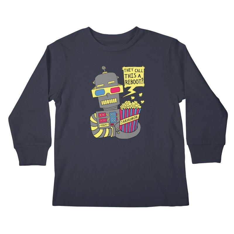 Robot Movie Reboot Kids Longsleeve T-Shirt by JARHUMOR