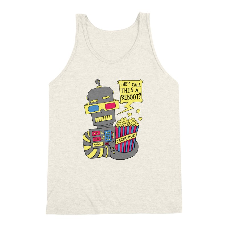 Robot Movie Reboot Men's Triblend Tank by JARHUMOR
