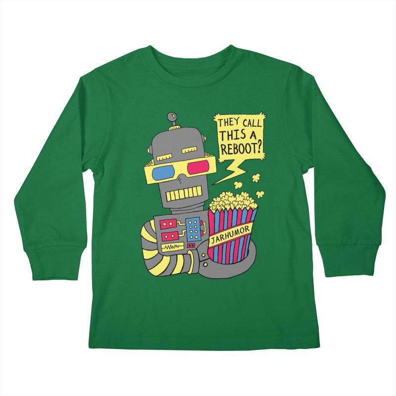 Robot Movie Reboot Kids Longsleeve T-Shirt by James A. Roberson (JARHUMOR)