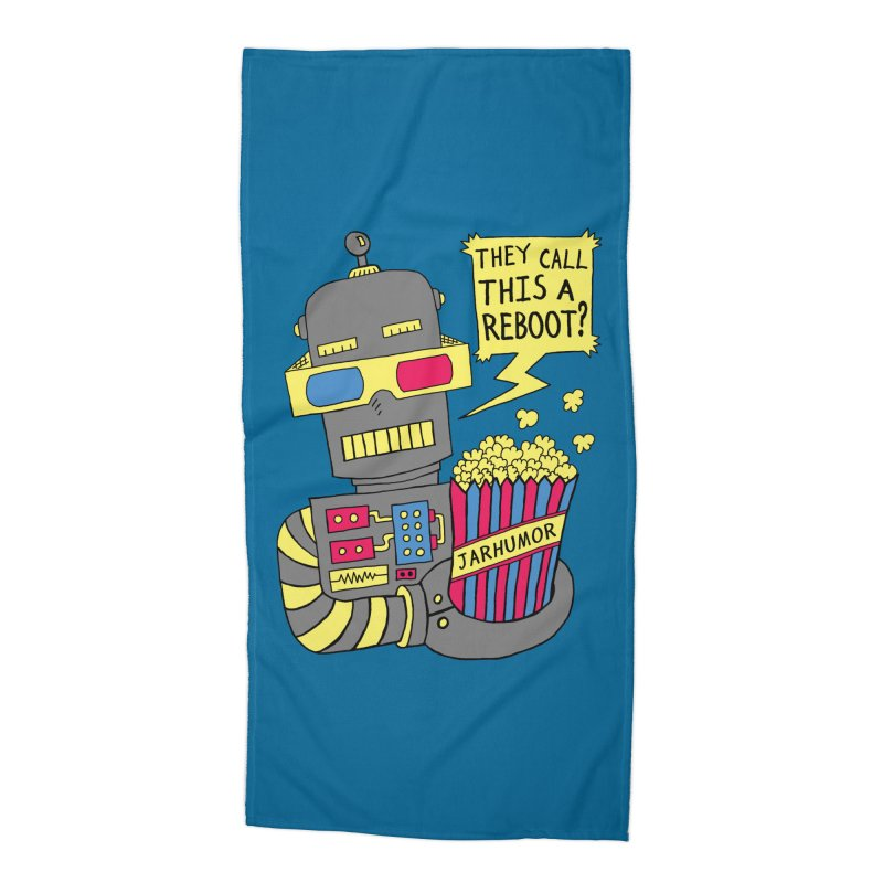 Robot Movie Reboot Accessories Beach Towel by JARHUMOR