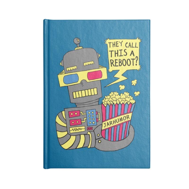 Robot Movie Reboot Accessories Blank Journal Notebook by JARHUMOR