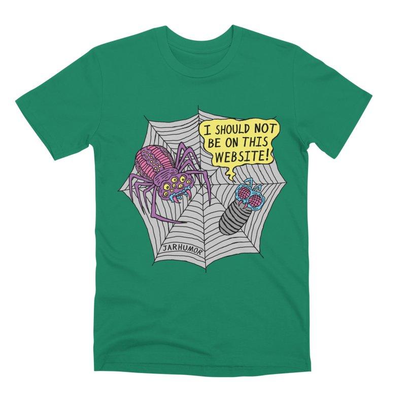 Spider Website Men's Premium T-Shirt by JARHUMOR