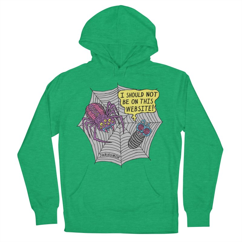 Spider Website Men's French Terry Pullover Hoody by JARHUMOR