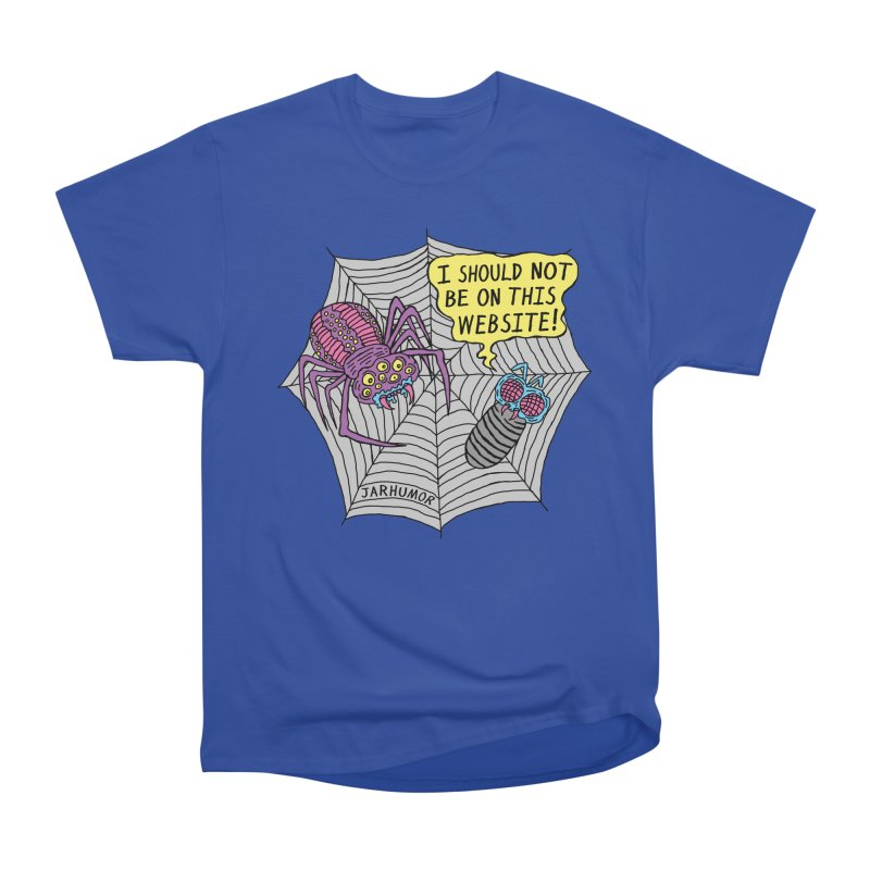 Spider Website Men's Heavyweight T-Shirt by JARHUMOR