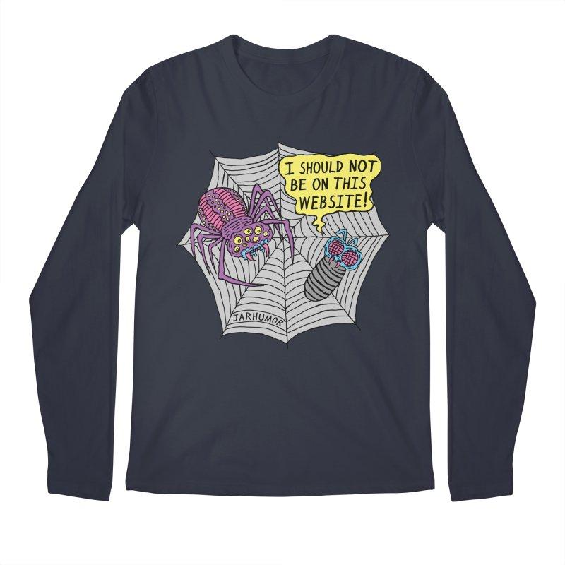 Spider Website Men's Regular Longsleeve T-Shirt by JARHUMOR