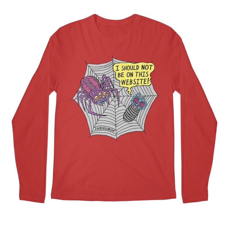 Spider Website Men's Longsleeve T-Shirt by JARHUMOR