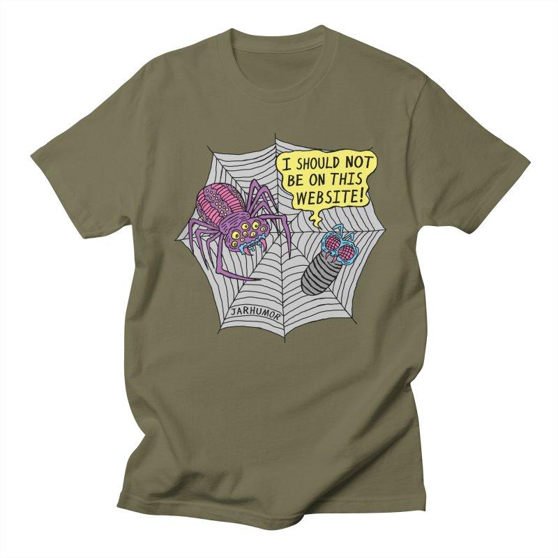 Spider Website Women's Regular Unisex T-Shirt by JARHUMOR