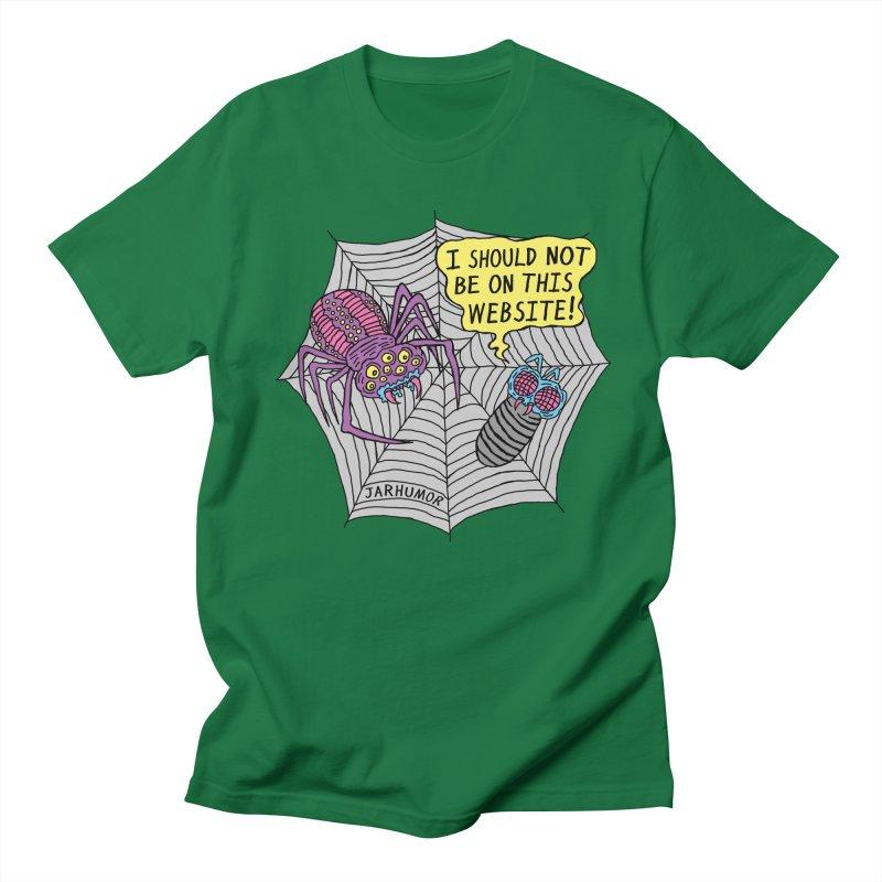 Spider Website Men's T-Shirt by JARHUMOR