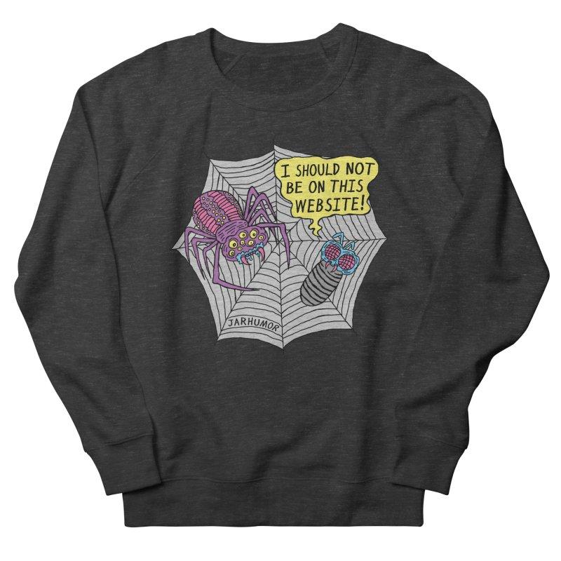 Spider Website Women's French Terry Sweatshirt by JARHUMOR