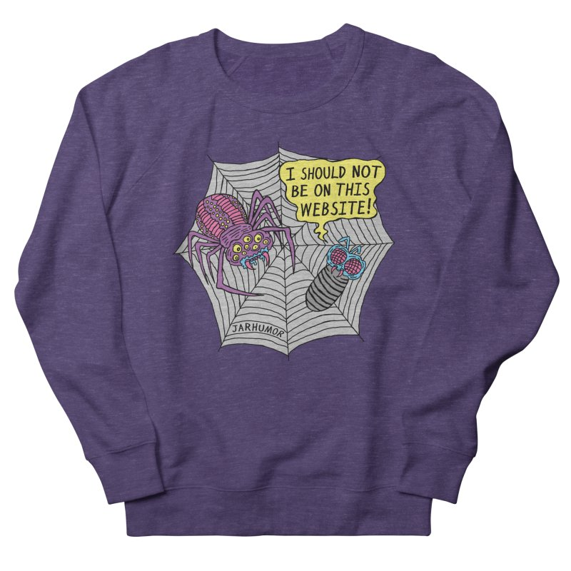 Spider Website Men's Sweatshirt by JARHUMOR