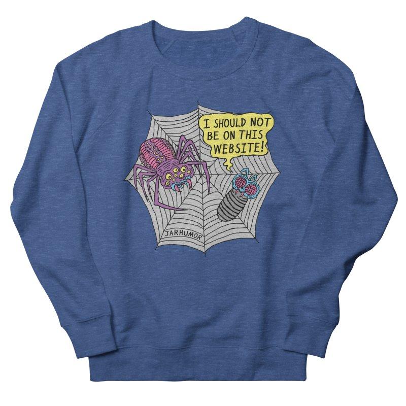 Spider Website Men's French Terry Sweatshirt by JARHUMOR