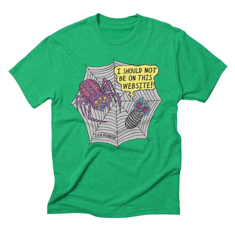 Spider Website Men's Triblend T-Shirt by JARHUMOR