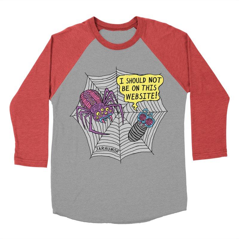 Spider Website Women's Baseball Triblend T-Shirt by JARHUMOR