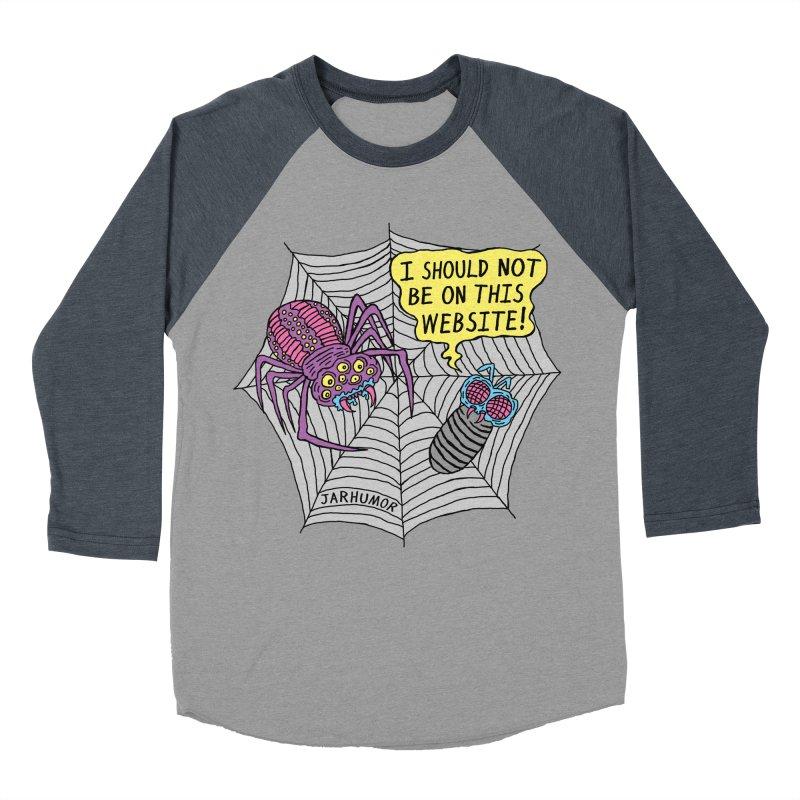 Spider Website Men's Baseball Triblend Longsleeve T-Shirt by JARHUMOR