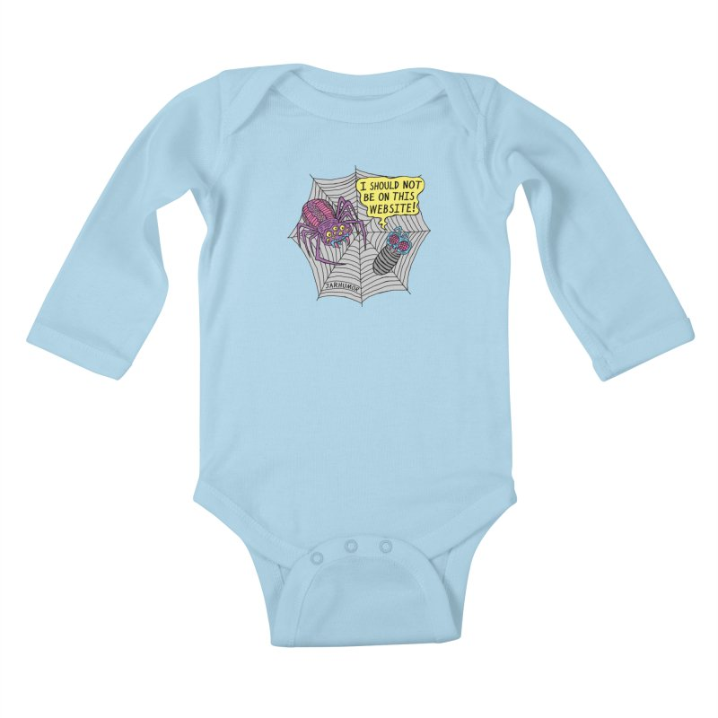 Spider Website Kids Baby Longsleeve Bodysuit by JARHUMOR