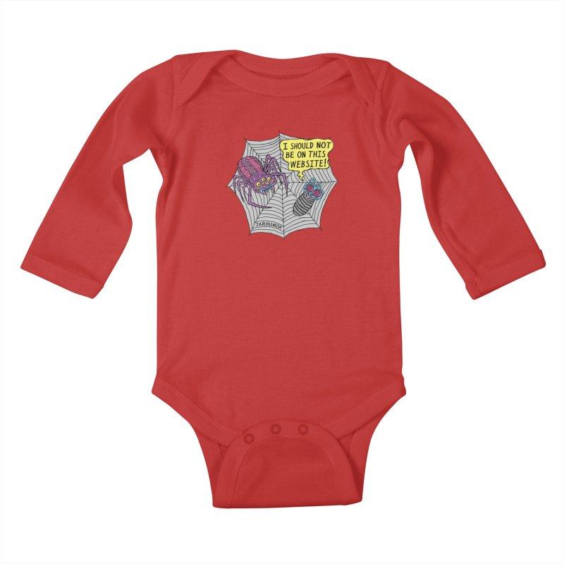 Spider Website Kids Baby Longsleeve Bodysuit by JARHUMOR