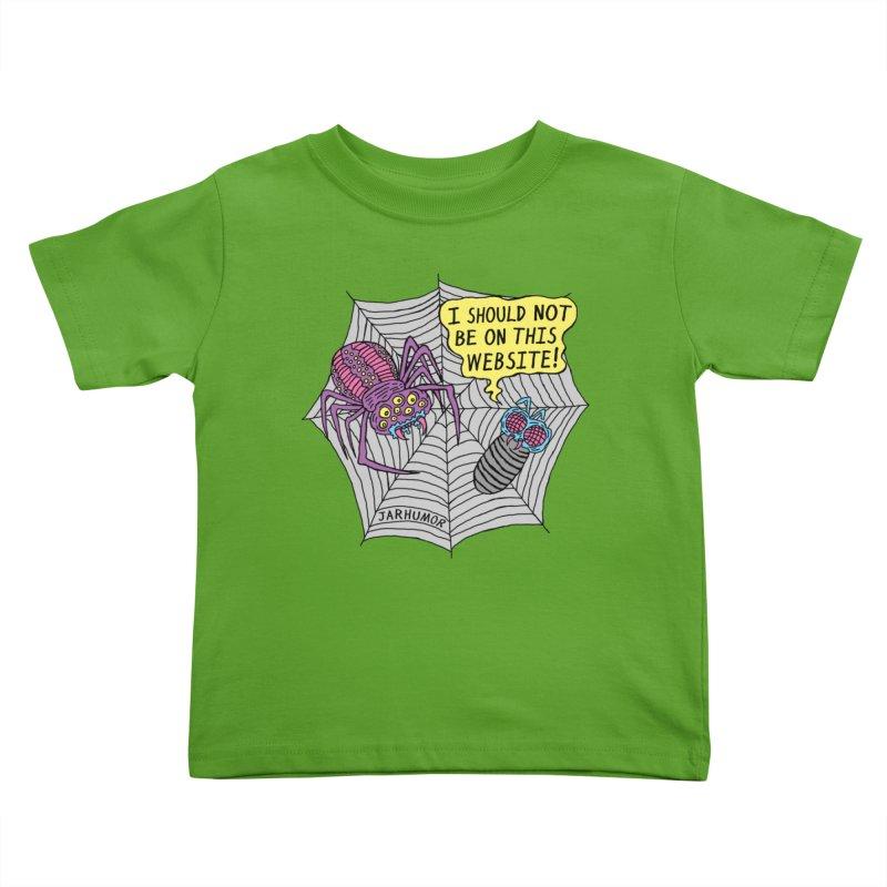 Spider Website Kids Toddler T-Shirt by JARHUMOR