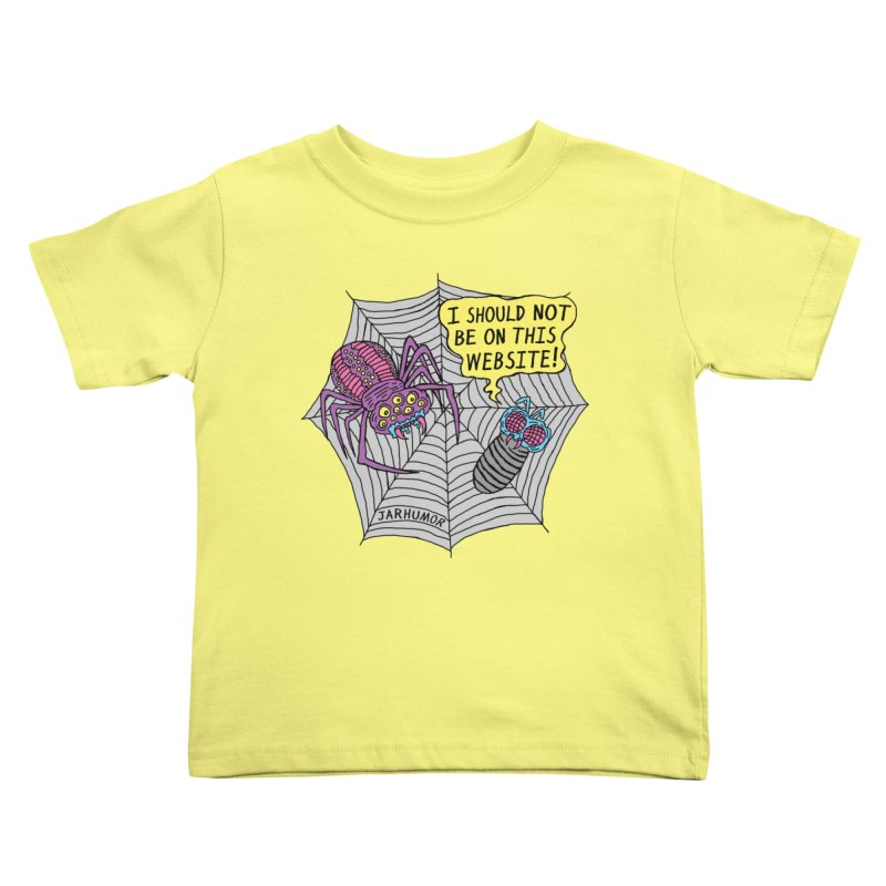 Spider Website Kids Toddler T-Shirt by JARHUMOR