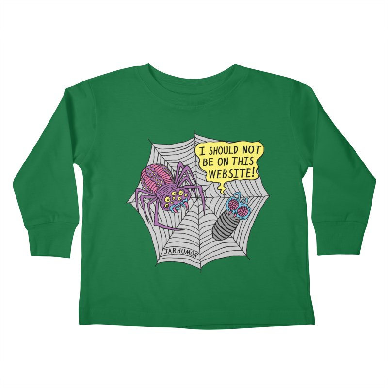 Spider Website Kids Toddler Longsleeve T-Shirt by JARHUMOR