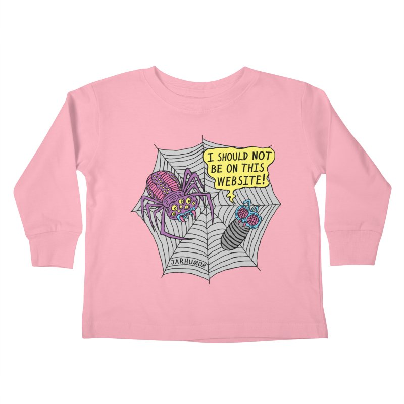 Spider Website Kids Toddler Longsleeve T-Shirt by JARHUMOR