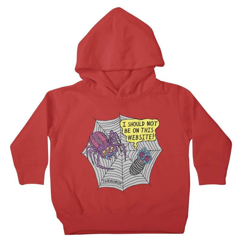 Spider Website Kids Toddler Pullover Hoody by JARHUMOR