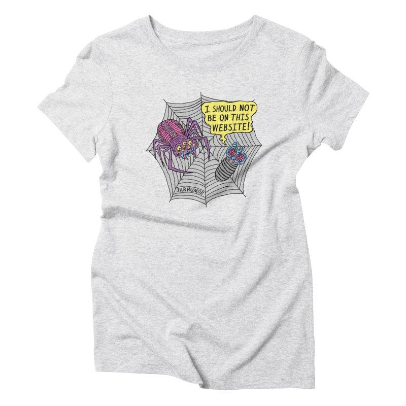 Spider Website Women's T-Shirt by JARHUMOR