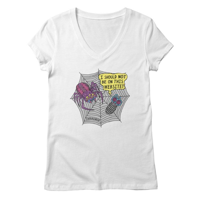 Spider Website Women's Regular V-Neck by JARHUMOR